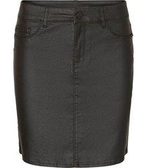 kjol vmseven mr short coated skirt