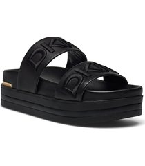 tee shoes summer shoes flat sandals svart dkny