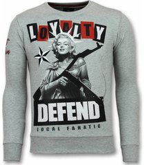 sweater local fanatic marilyn trui - monroe sweater - truien -
