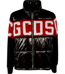gcds logo glossy padded jacket