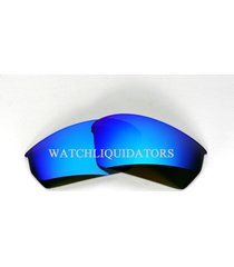 replacemant lens for nike skylon exp sq sunglass in dark gray ice blue mirror