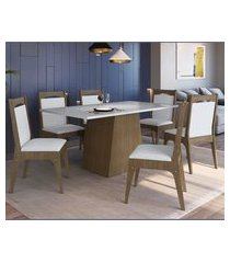conjunto mesa com base e cadeiras mdf ameixa negra e branco