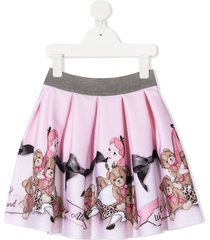monnalisa teddy bear skirt - pink