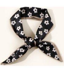 tiny flower neck tie satin scarf