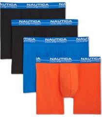 nautica men's 4-pk. performance boxer briefs