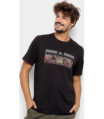 camiseta quiksilver bas the jungle - masculina