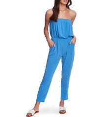 women's 1.state strapless knit jumpsuit, size x-small - blue