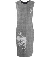 boutique moschino check pencil dress - grey