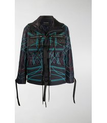 craig green abstract print panelled jacket