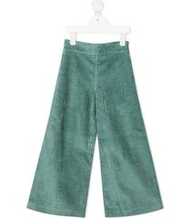 raspberry plum hope corduroy trousers - green