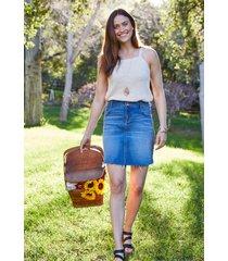 maurices womens vintage high rise medium wash blue denim mini skirt