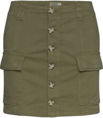alchemy cargo mini skirt kort kjol grön superdry