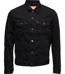 the trucker jacket berkman jeansjack denimjack zwart levi´s men