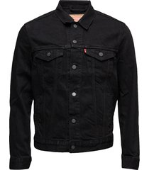 the trucker jacket berkman jeansjack denimjack zwart levi´s men