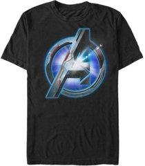 marvel men's avengers glowing avengers logo short sleeve t-shirt