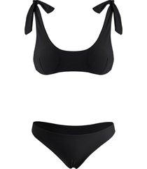 tie shoulder scrunch butt tank bikini swimwear