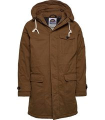 classic padded organic cotton parka jacket parka jas bruin scotch & soda