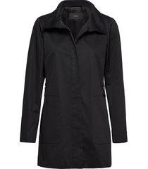 coats woven dunne lange jas zwart esprit collection