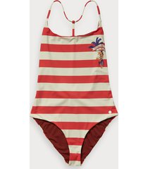 scotch & soda striped swimsuit keoni