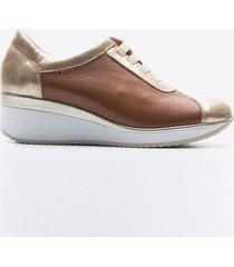 zapato casual mujer freeport z02a caramelo