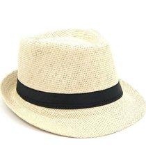 chapéu bijoulux estilo panamá marrom com faixa preta
