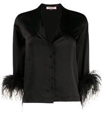 gilda & pearl feather cuff esme jacket - black