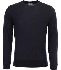closed merino wool pullover