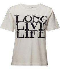 linka ss pullover ma18 t-shirts & tops short-sleeved crème gestuz