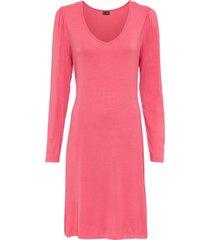 abito di jersey con maniche a sbuffo (rosa) - bodyflirt