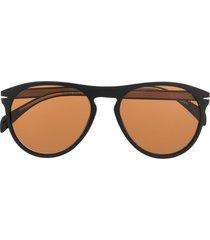 david beckham eyewear db 1008/s soft pilot sunglasses - black