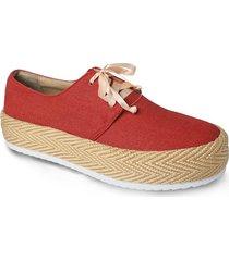 calzado tipo mocasín cabuya- rojo