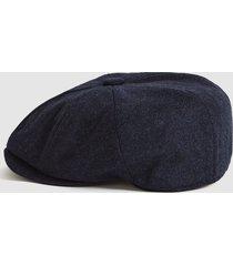 reiss edward - christys' baker boy cap in navy, mens, size m/l