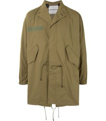 fumito ganryu spread-collar coat - green