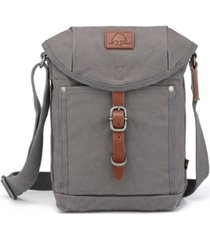 tsd brand forest canvas flap crossbody bag