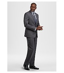 reserve collection tailored fit glen plaid reda 1865 sustainawool men's suit - big & tall by jos. a. bank