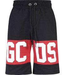 gcds knee logo drawstring shorts