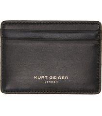 women's kurt geiger london chevron quilted leather card case - black