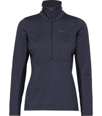 flyen fleece w half zip sweat-shirt tröja blå bergans