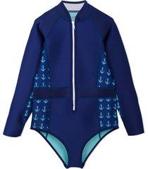 duskii girl abby long sleeve spring suit - multicolour