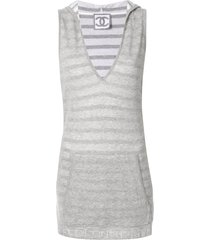 chanel pre-owned sleeveless one piece dress - grey