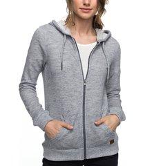 women's roxy trippin hoodie, size large - grey