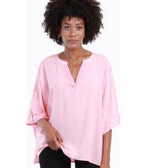 blusa con lentejuelas alicia rosada night concept