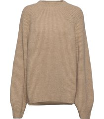 blank sweater stickad tröja beige hope