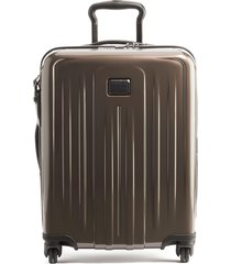 men's tumi v4 collection 22-inch continental expandable spinner carry-on - brown