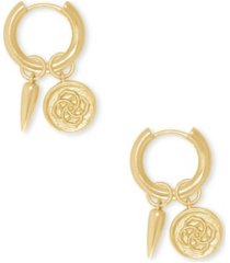 kendra scott dira coin huggie earrings