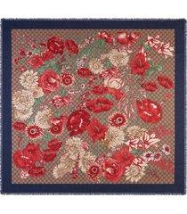 gucci spring bouquet modal silk shawl - neutrals