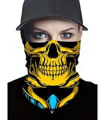 skull outdoor multi-functional elastic round scarf