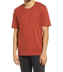 men's treasure & bond men's notch neck t-shirt, size x-large - red