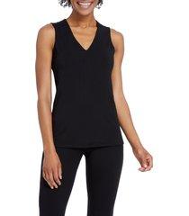 petite women's nic+zoe soft ease tank top, size petite p - black