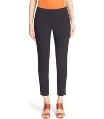 women's lafayette 148 new york 'stanton' slim leg ankle pants, size 10 - black